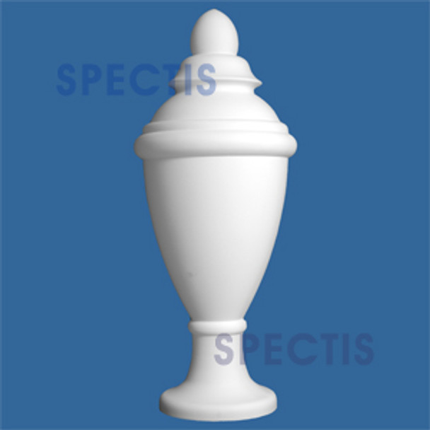 "FIN115 19 1/4"" x 48"" Urn Style Spectis Urethane Finial"