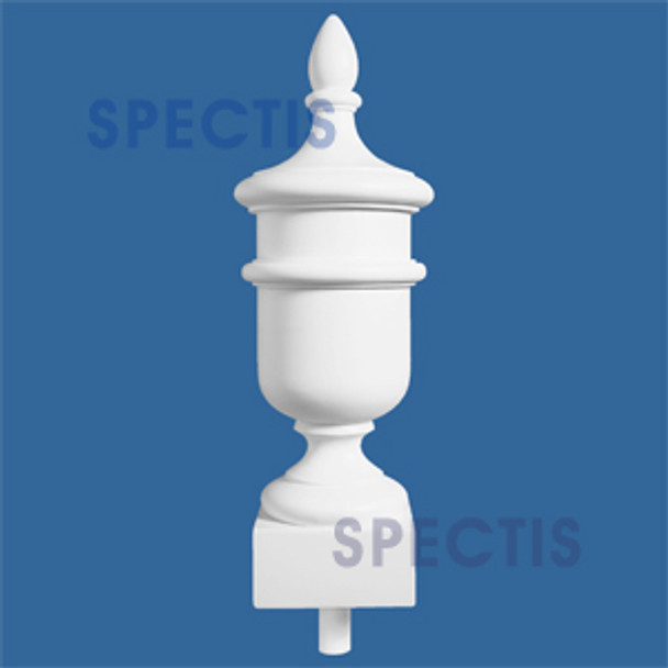 "FIN23 6"" x 22 5/8"" Urn on Base Urethane Finial"