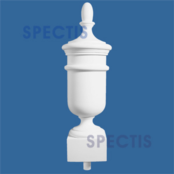 "FIN32 8"" Base x 32"" Tall Urn Style Urethane Finial"