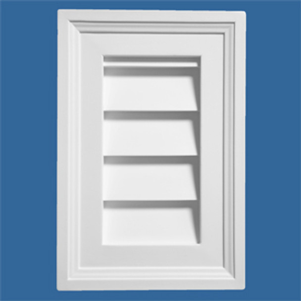 """LCRT1212 Urethane Louvre Closed Rectangle 12"""" x 12"""""""