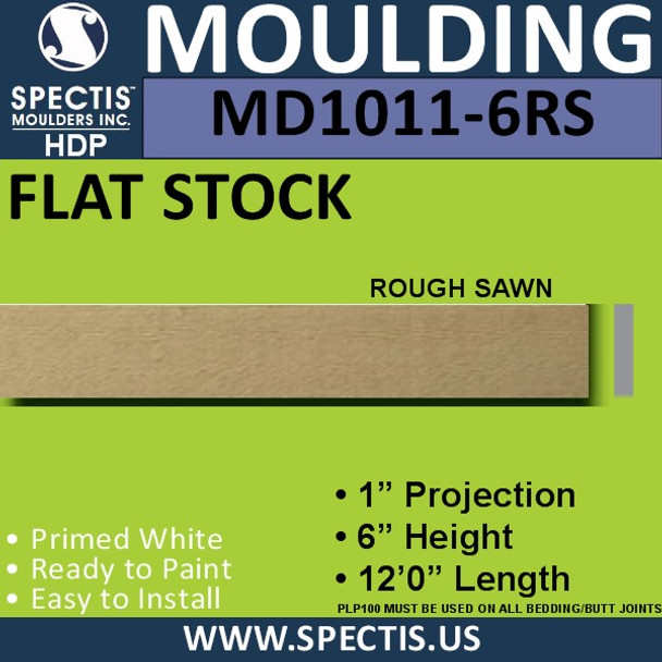 "MD1011-6RS Spectis 1"" Rough Sawn Flat Trim 1""P x 6""H x 144""L"