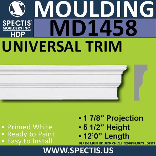 "MD1458 Spectis Base Cap Trim 1 7/8""P x 5 1/2""H x 144""L"