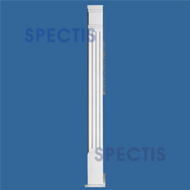"""PL452F 4"""" x 51 3/4"""" Fluted Spectis Urethane Pair of Pilasters"""