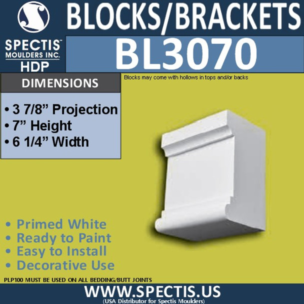 "BL3070 Eave Block or Bracket 6.25""W x 7""H x 4"" P"