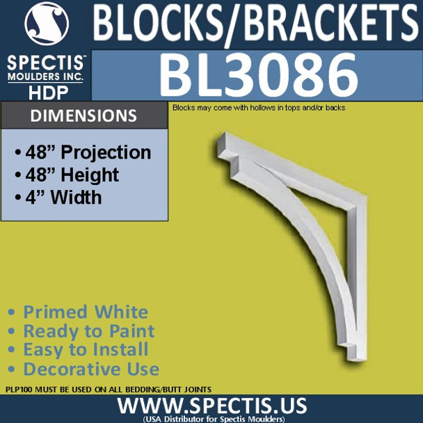 "BL3086 Eave Block or Bracket 4""W x 48""H x 48"" P"