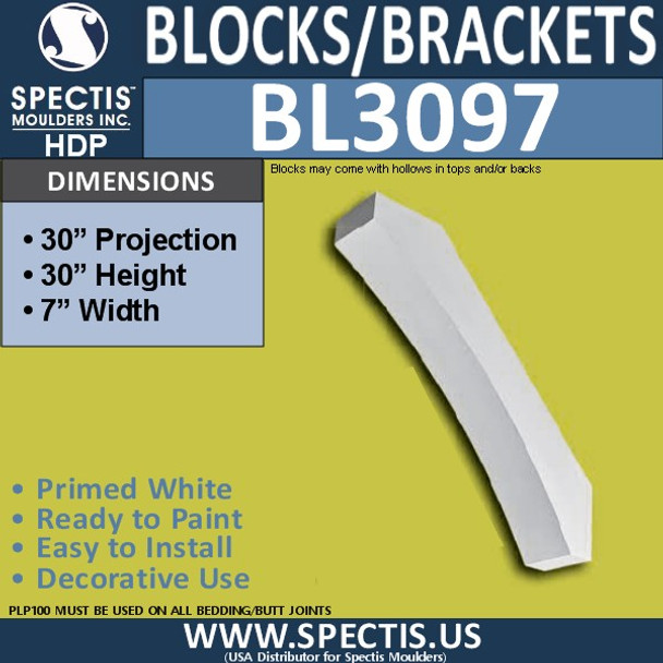 "BL3097 Eave Block or Bracket 7""W x 32""H x 32"" P"
