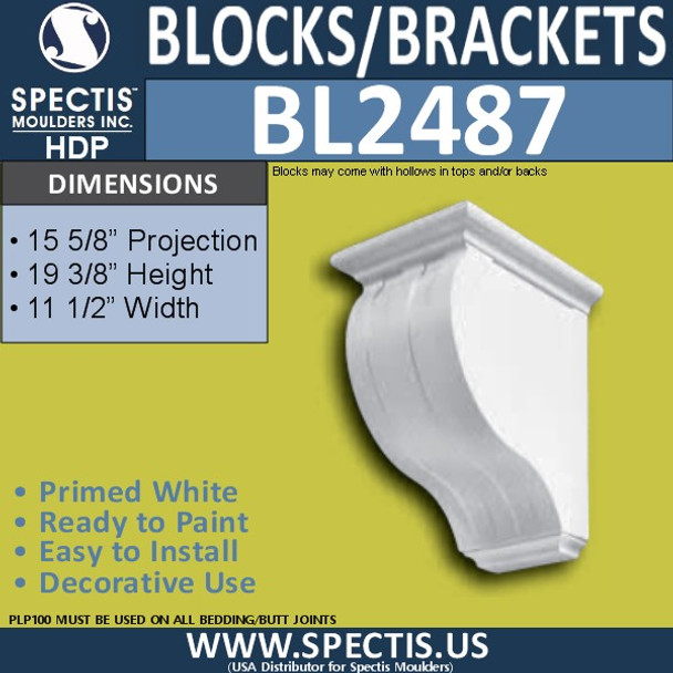 "BL2487 Eave Block or Bracket 11.5""W x 19""H x 16"" P"