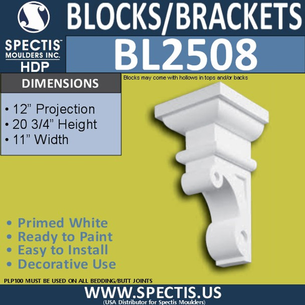 "BL2508 Eave Block or Bracket 11""W x 20.75""H x 12"" P"