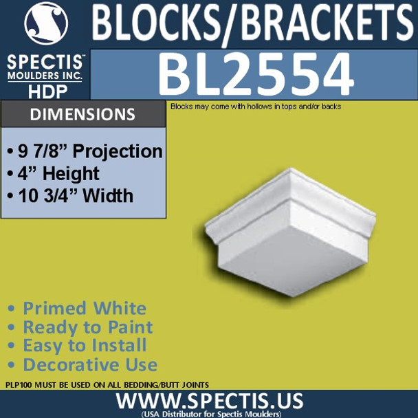 "BL2554 Eave Block or Bracket 10.75""W x 4""H x 10"" P"