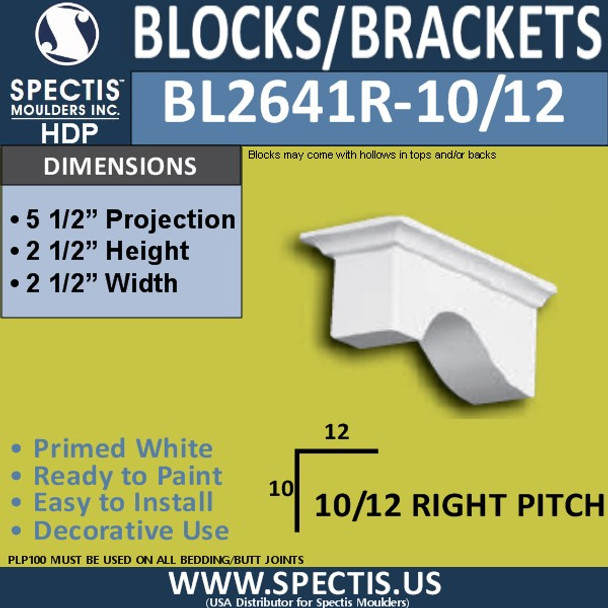"BL2641R-10/12 Pitch Eave Bracket 2.5""W x 2.5""H x 5.5"" P"