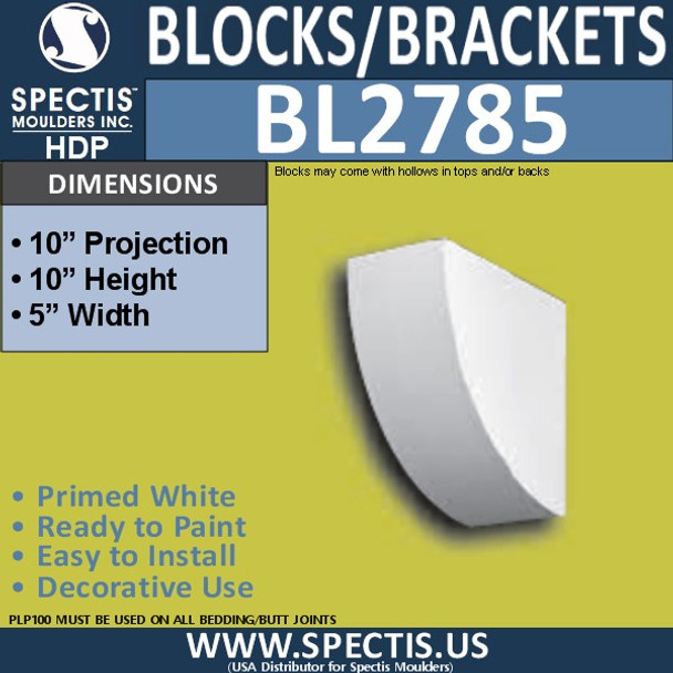 "BL2785 Eave Block or Bracket 5""W x 10""H x 10"" P"