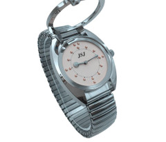Braille Ladies Concrete Watch Angle Band Pink Bite Lovers' Watches