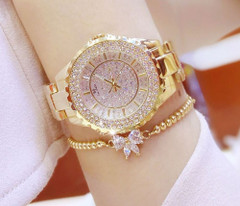 Dress Watch Alarm Design Rose-Gold Stainless-Steel Women Ladies Brand Quartz Relogio Dress Watches