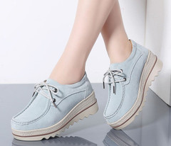 Female Shoes Platform Creepers Sneakers Women Flats Autumn Impulsive  Thick Lace-Up Womens Flats