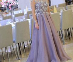 Evening-Gown Robe-De-Soiree Beaded-Pearls Long-Sleeve High-Neck New-Arrival Formal Evening Gowns