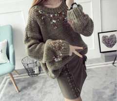 Female Sweater Women Pullover-Tops O-Neck Warm Winter New-Style Winter Womens Pullover Loose