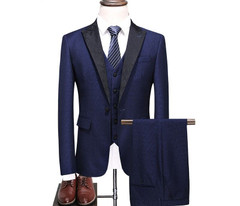 Abject Suitroom Business-Dress Slim-Fit Formal Stylish Tian Qiong Brand Men Shawl Collar Formal Suits For Men