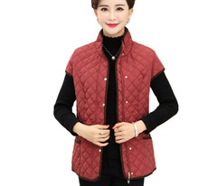 Aged-Vest Women Coat Pockets Warm Plus-Size Impulsive