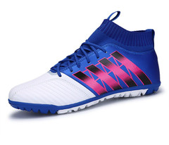 Beat Soccer-Shoes Futsal Sneakers Outdoor High-Ankle Men For Meadow Wear-Resisting Anti-Skidding Outdoor Soccer Shoes