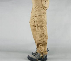 Cargo-Pants Army-Trousers Multi-Pockets Military-Style Appropriate Appearance Men's Cotton Mens Pants