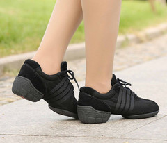 Applesauce Shoes Dance-Sneakers Modern Woman Black Mesh T01 Zapatos Womenset Shoes
