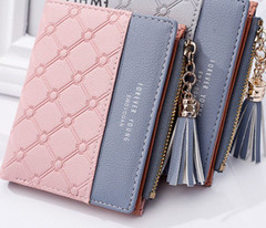 1Pc Cute Wallet Women Coin Bag Leather Ladies Simple Bifold Small Purse Wallets