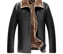 Men Jacket Coats Fur Winter Male 5Xl And Outlive Central Plus-Size Leather Jackets For Men