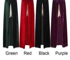 Adult Elf Witch Long Purplereen Red Black Purim Carnival Halloween Cloaks Hood And Capes Halloween Costumes For Women Men Black Leather Jacket Women
