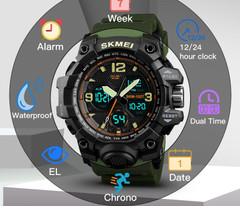 Digital Wristwatches Men Sports Watches Chrono Countdown Waterproof LED Military Watch Men Student Clock Relogio Masculino