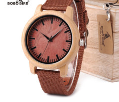 WD09 Pretty Wood Wristwatches Japan Miyota Movement Watch Fashion Designer Bamboo Wooden Watches OEM Lovers' Watches