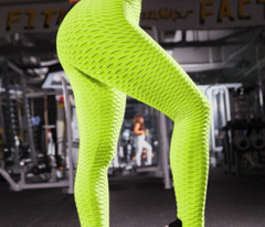 Sexy High Waist Leggings Womenrid Fitnessym Fold Sports Pants Elastic Legggin Slim Hip Push Up Female Workout Yoga Tights Womens Leggings Sports Gym