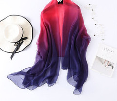 Summer Silk Scarf For Women Shawls And Wraps Large Size Thin Soft Pashmina Beach Stoles Foulard Lady Echarpe Hijabs Summer Scarves