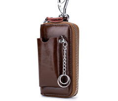 New Fashion Men Car Key Holdersenuine Leather Multifunction Zipper Home Key Case Housekeeper Women Key Coin Purse Cow Coin Purse