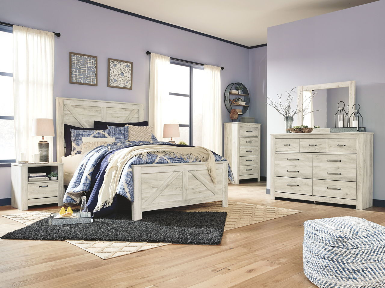 Picture of: The Ashley Bellaby Whitewash Queen Panel Bed Available At Furniture Connection Serving Clarksville Tennessee And Ft Campbell Kentucky