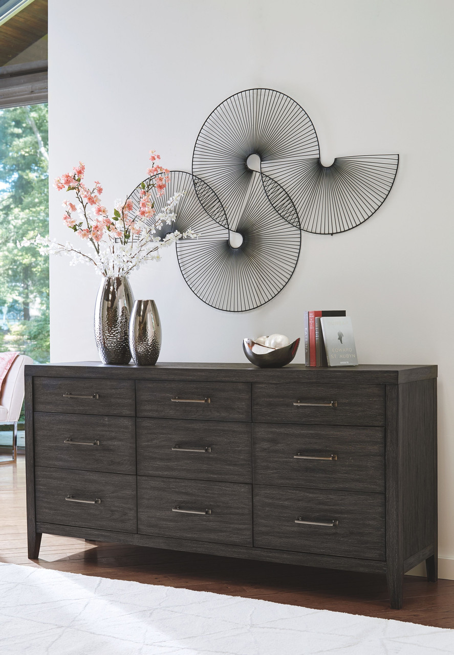 The Bellvern Dark Gray 8 Pc Dresser Mirror Chest King Upholstered Bed 2 Nightstands Available At Furniture Connection Serving Clarksville Tennessee And Ft Campbell Kentucky