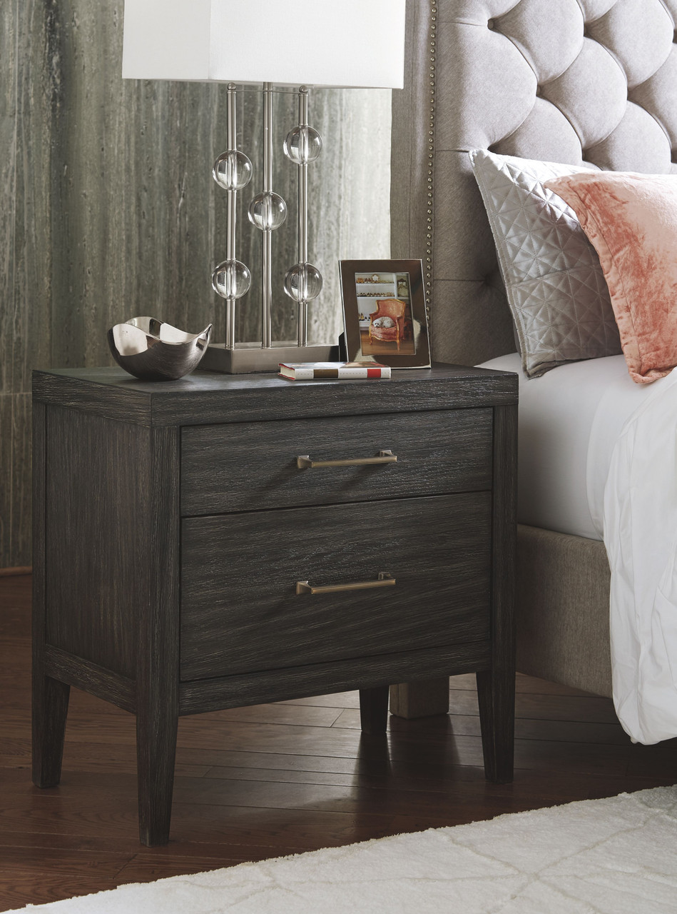 The Bellvern Dark Gray Two Drawer Night Stand Available At Furniture Connection Serving Clarksville Tennessee And Ft Campbell Kentucky
