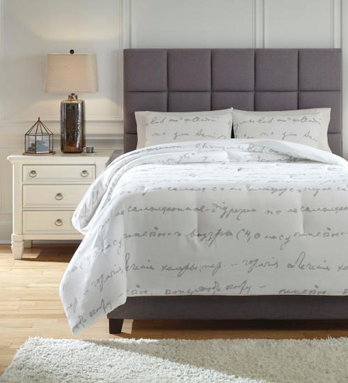 Adrianna White/Gray King Comforter Set