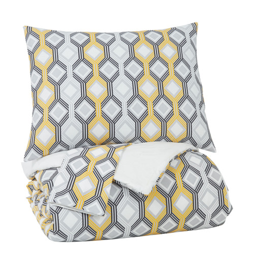 Mato Gray/Yellow/White King Comforter Set