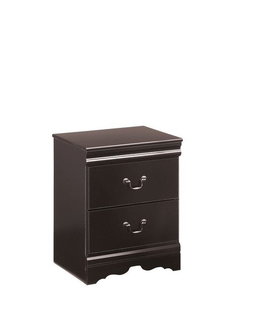 Huey Vineyard Black Two Drawer Night Stand