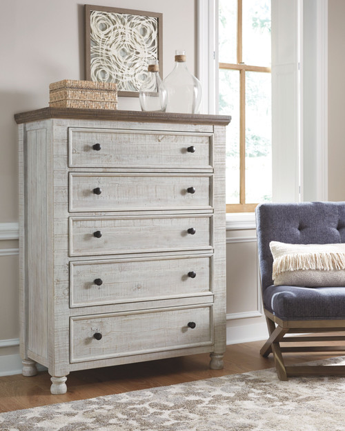 Havalance Two-tone Five Drawer Chest