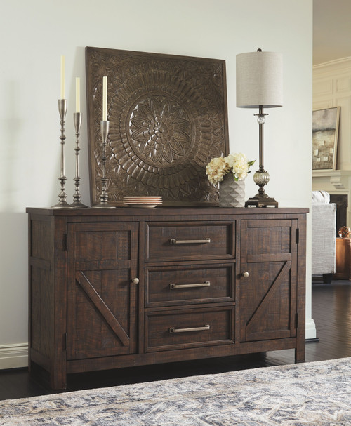 Hillcott Dark Brown Dining Room Server