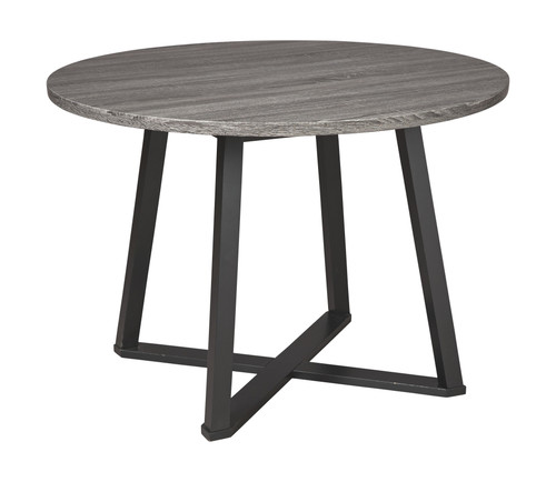 Centiar Gray/Black Round Dining Room Table