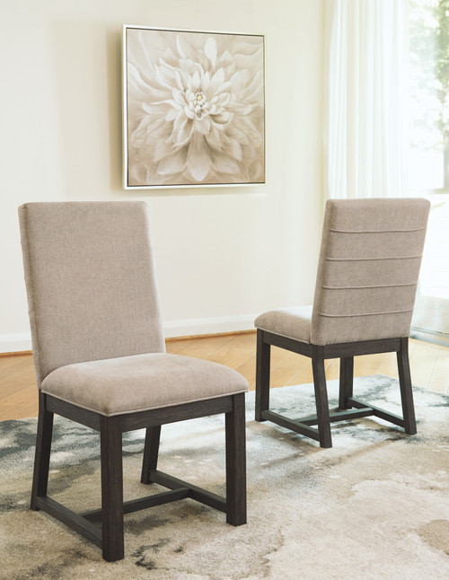 Bellvern Dark Gray Dining Upholstered Side Chair