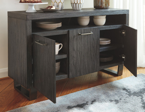 Bellvern Dark Gray Dining Room Server