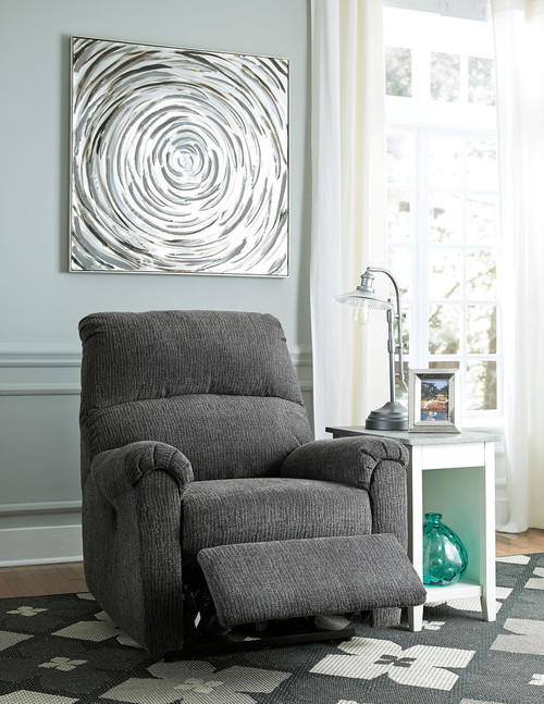 McTeer Charcoal Power Recliner