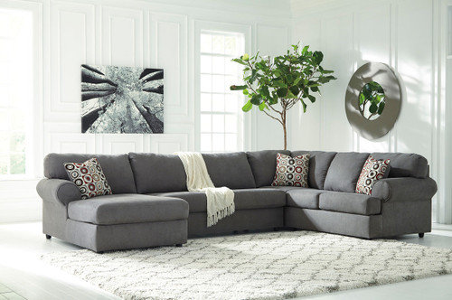 Jayceon Steel Left Arm Facing Corner Chaise, Armless Loveseat & Right Arm Facing Sofa Sectional