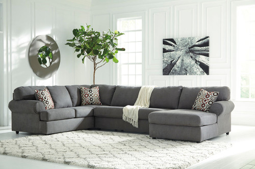 Jayceon Steel Left Arm Facing Sofa, Armless Loveseat & Right Arm Facing Corner Chaise Sectional