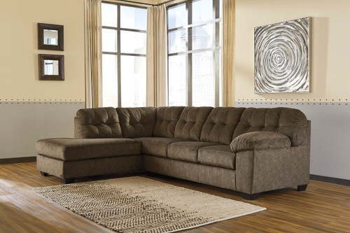 Accrington Earth Left Arm Facing Corner Chaise & Right Arm Facing Sofa Sectional