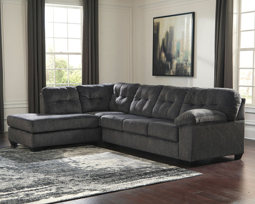 Accrington Granite Left Arm Facing Corner Chaise & Right Arm Facing Sofa Sectional