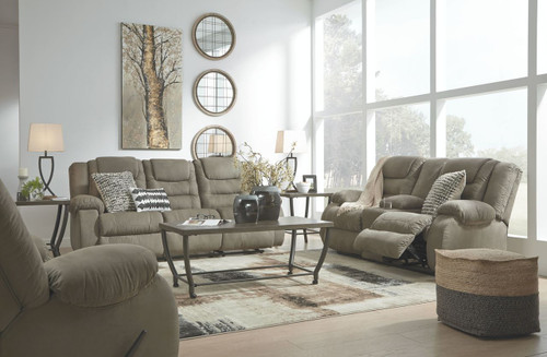 Segburg Cobblestone REC Sofa, DBL REC Loveseat with Console & Rocker Recliner